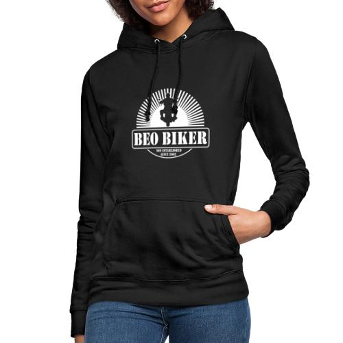 Logo Beo Biker White - Frauen Hoodie