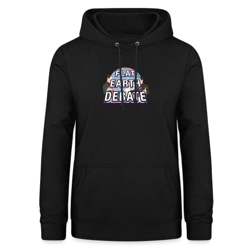 Flat Earth Debate Solid - Women's Hoodie