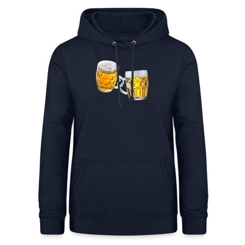 Boccali di birra - Felpa con cappuccio da donna