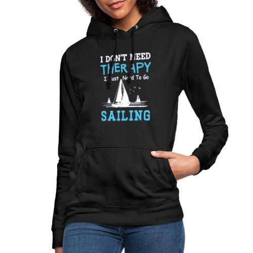 theraphy sailboat - Felpa con cappuccio da donna