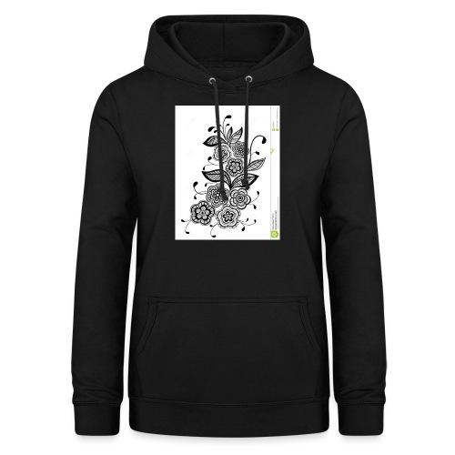 diseño de flores - Sudadera con capucha para mujer