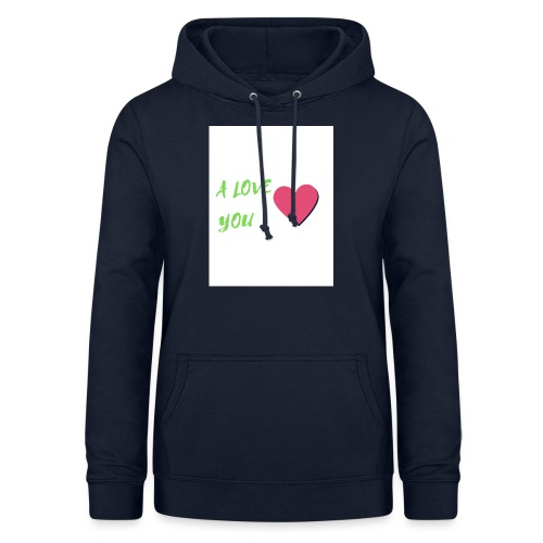 A LOVE YOU VERT - Sweat à capuche Femme