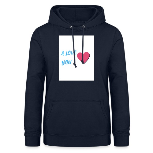 A LOVE YOU BLEU - Sweat à capuche Femme