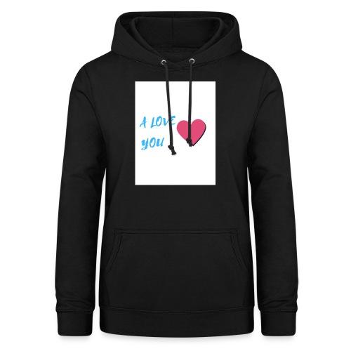 A LOVE YOU BLEU - Sweat à capuche Femme