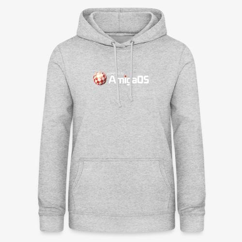 PoweredByAmigaOS white - Women's Hoodie