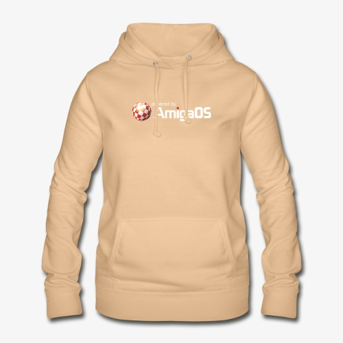 PoweredByAmigaOS white - Women's Hoodie