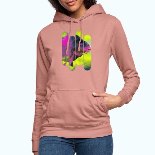 Neon colors fish - Women's Hoodie