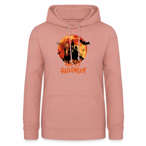 Bloodmoon Haunted House Halloween Design - Frauen Hoodie