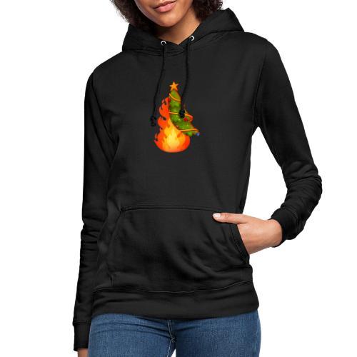 Christmas Flame - Felpa con cappuccio da donna