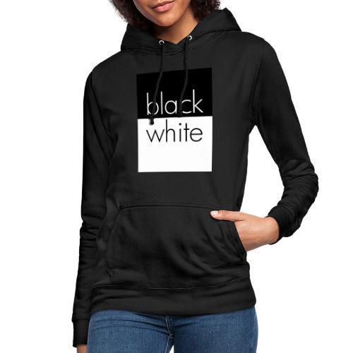 black and white - Frauen Hoodie