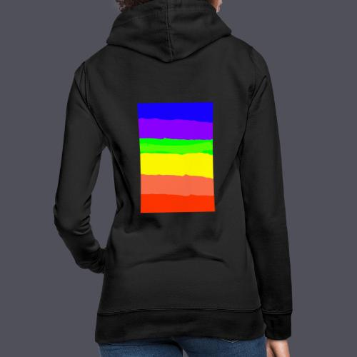 Luna The Kitten & Rainbow Design - Women's Hoodie