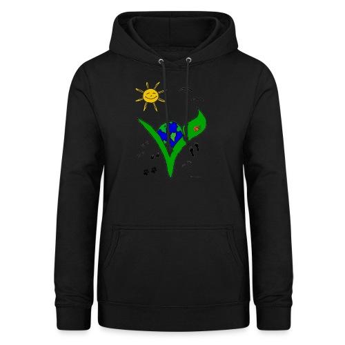 Ein Logo geht um die Welt - Frauen Hoodie