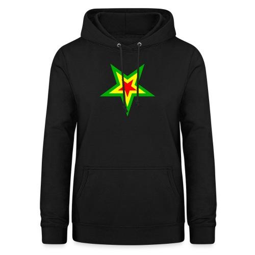 Stern rot, gelb, grün - Frauen Hoodie