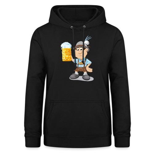 Bier Maßkrug Lederhosen Cartoon Man - Frauen Hoodie