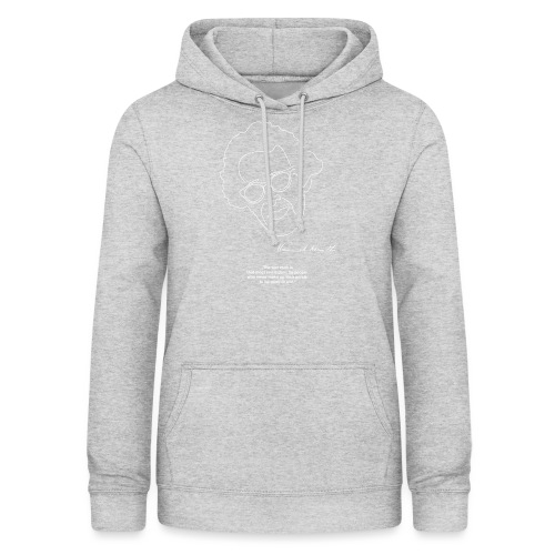 Hannah Arendt Sketch and Quote - Frauen Hoodie