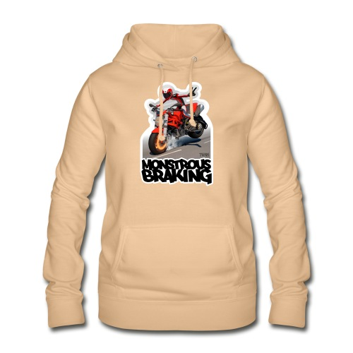 Ducati Monster, a motorcycle stoppie. - Sudadera con capucha para mujer