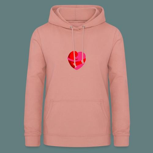 hearts hug - Felpa con cappuccio da donna