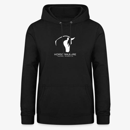 Horse Majeure Logo / Valkoinen - Naisten huppari
