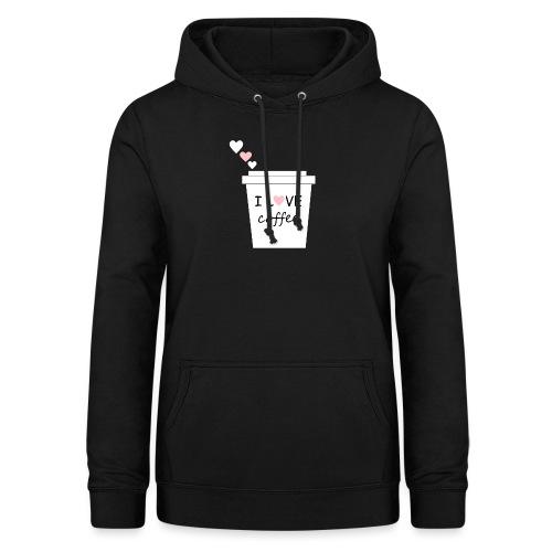 I Love Coffee (Yo amo el cafe) - Sudadera con capucha para mujer