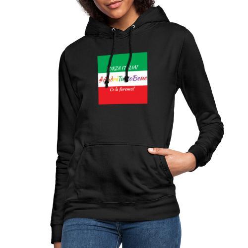 Andrà Tutto Bene su Bandiera Italiana - Felpa con cappuccio da donna