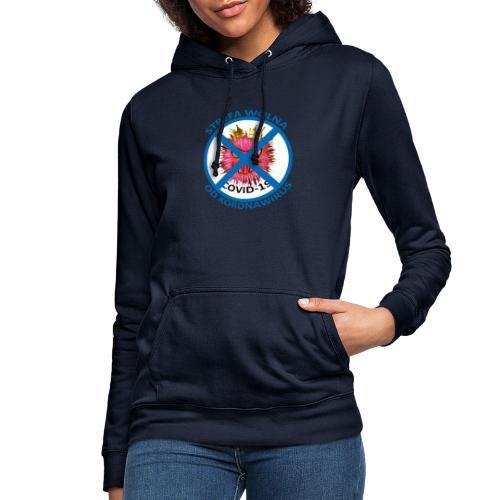 Strefa wolna od Koronawirus - Koszulka anty COVID - Bluza damska z kapturem