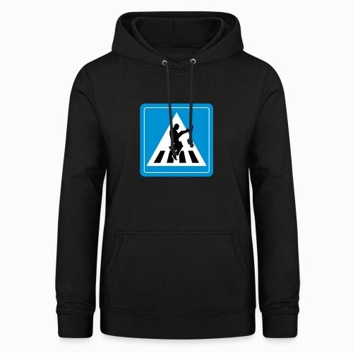 Silly walk zebrapad verkeersbord Zierikzee Zeeland - Vrouwen hoodie