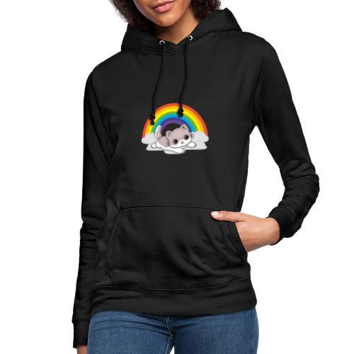 Gato arcoiris - Sudadera con capucha para mujer