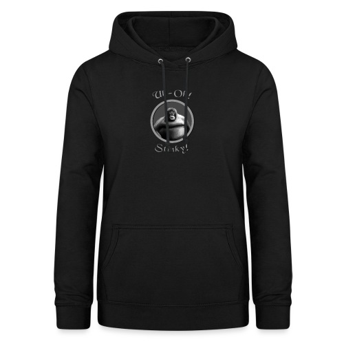 monke design uh oh stinky - Women's Hoodie