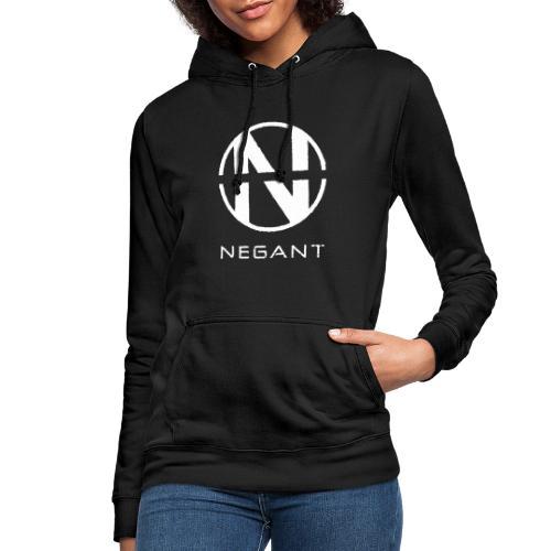 White Negant logo - Dame hoodie