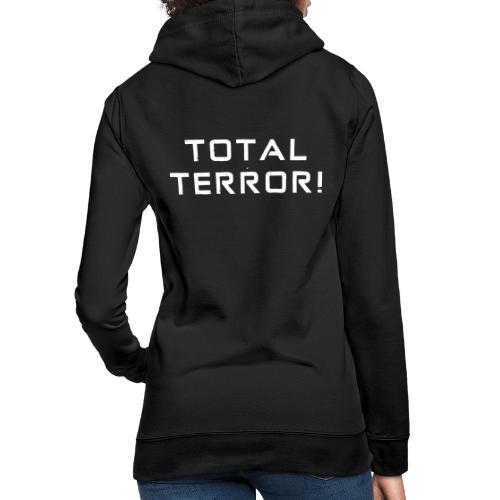 White Negant logo + TOTAL TERROR! - Dame hoodie
