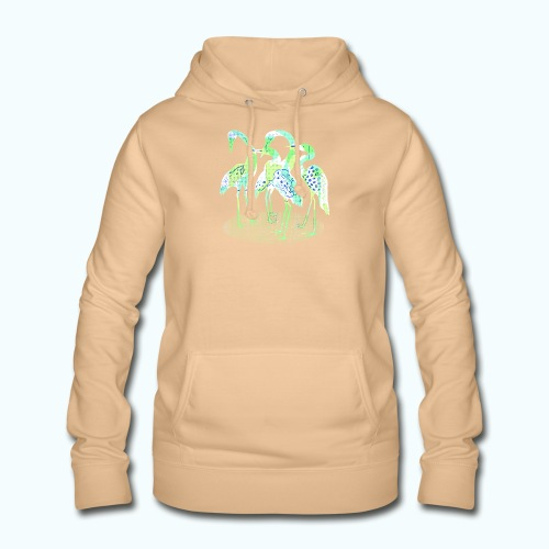 Abstract bird Family. Bright colors - Women's Hoodie