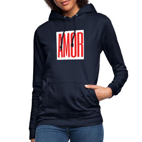 AMOR - Sudadera con capucha para mujer