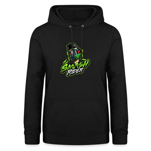 SmashRider Green - Felpa con cappuccio da donna