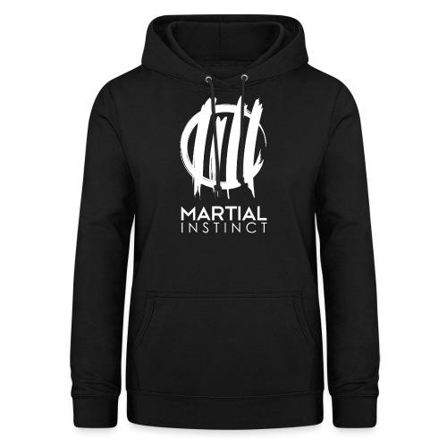 MARTIAL INSTINCT - White Logo (vorne) - Frauen Hoodie