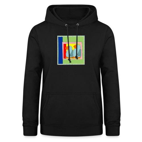 Colorart1 - Felpa con cappuccio da donna