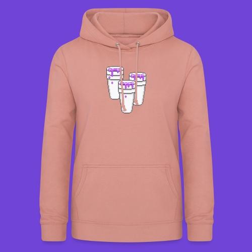 Purple - Felpa con cappuccio da donna