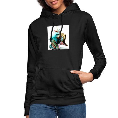happy fish - Sudadera con capucha para mujer