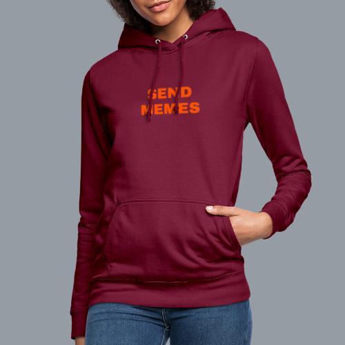 SEND MEMES - Sudadera con capucha para mujer