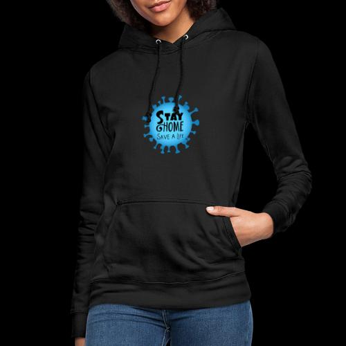 Stay Home (Blue) - Women's Hoodie