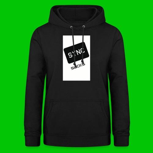 t-shirt-DIETRO_SYNK_SUCKS-jpg - Felpa con cappuccio da donna