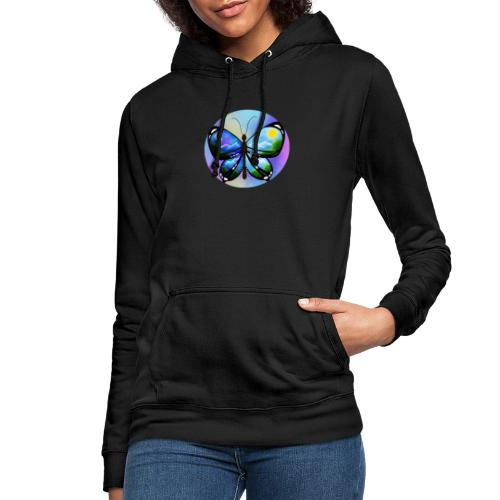 Blue Butterfly nature amazon - Sudadera con capucha para mujer