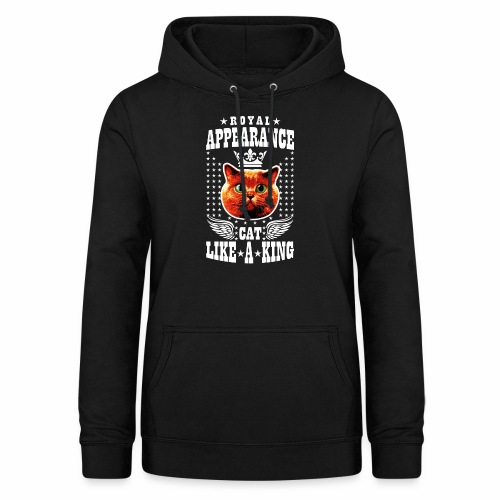 20 Royal Appearance Red Cat like a King Crown - Frauen Hoodie