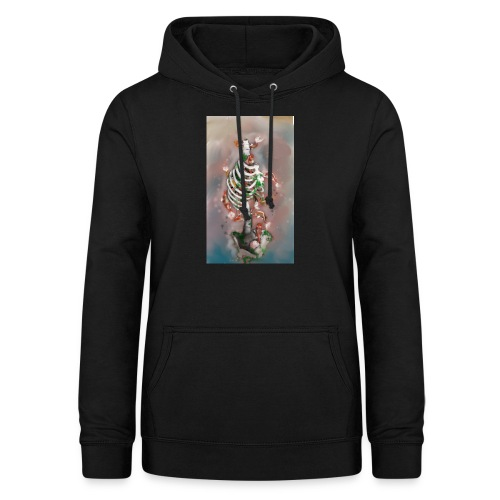 scheletrokoi - Felpa con cappuccio da donna