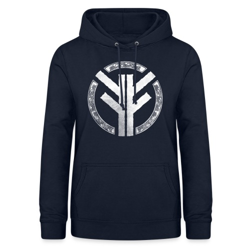 Forefather symbol white - Women's Hoodie