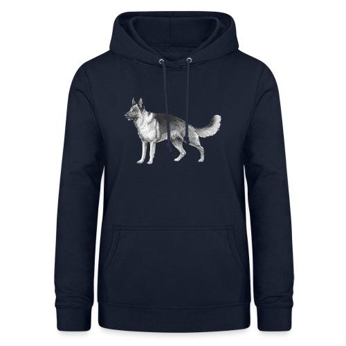 German shepherd schæfer ink - Dame hoodie