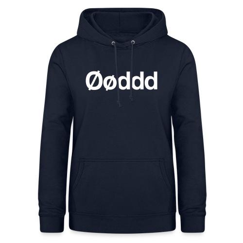 Øøddd (hvid skrift) - Dame hoodie
