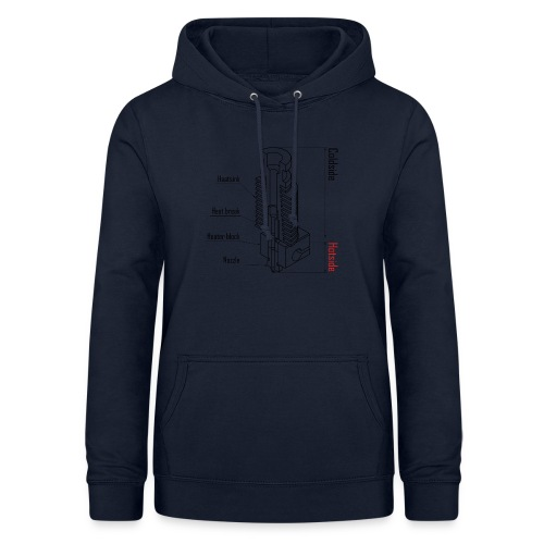 Hotend anatomy (no text). - Women's Hoodie