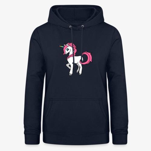 Süsses Einhorn mit rosa Mähne und Regenbogenhorn - Frauen Hoodie