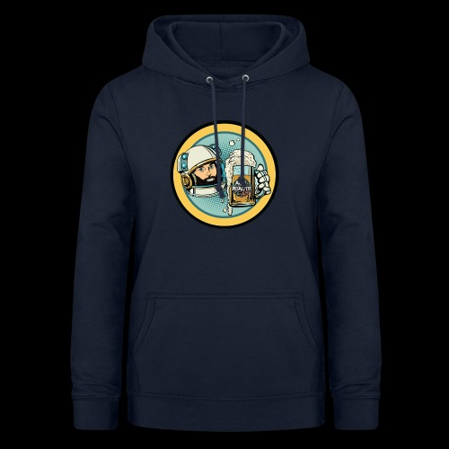 Astronaut With Beer - Women's Hoodie