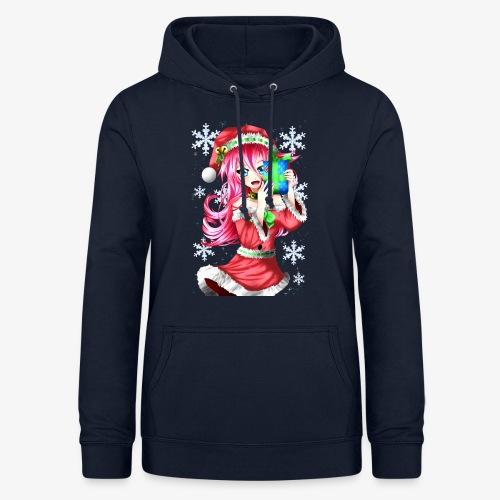 navidad - Sudadera con capucha para mujer